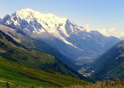 Mont Blanc and the Chamonix Valley