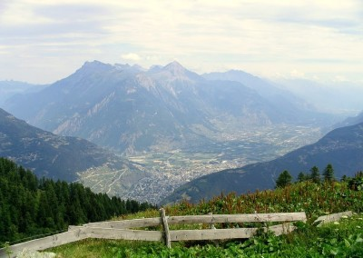Martigny, in the Rhone Valley, from Alp Bovine